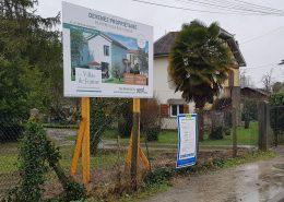 Panneau de chantier programme Immobilier gironde 33