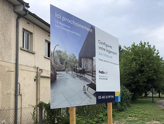 fabrication et pose - panneau-de-chantier-immobilier-bordeaux-gironde-33