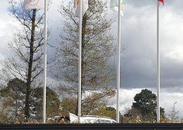 Pose de mats et de drapeaux bordeaux gironde 33