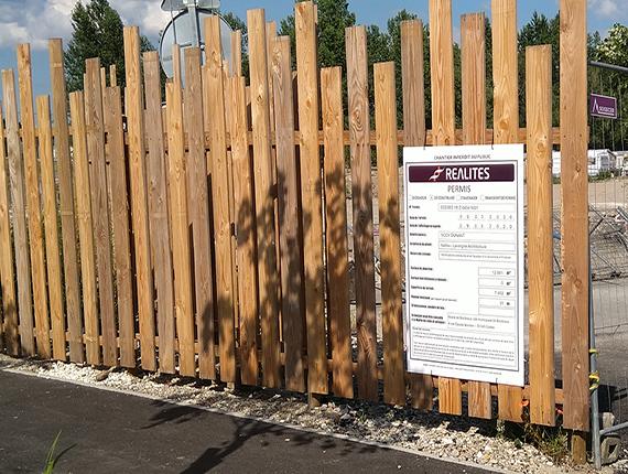 Fabrication de panneaux de chantier permis de construire -33 bordeaux gironde
