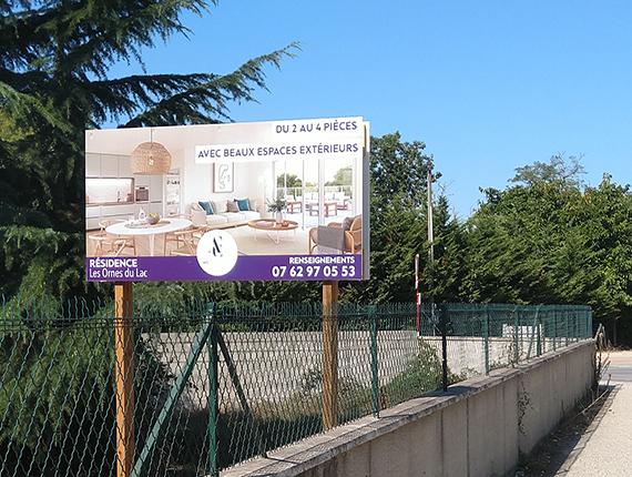 Fabrication et pose panneau promotion immo bordeaux gironde - 33