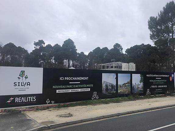 Habillage façade chantier - panneaux de promotion immobilière secteur Bordeaux Gironde 33